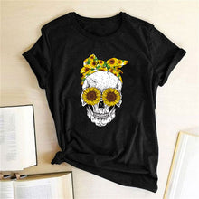 Load image into Gallery viewer, Skull Bandana T-Shirt - Black / S - MallJumbo.com