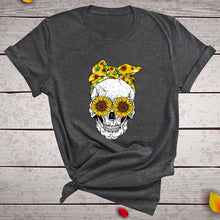 Load image into Gallery viewer, Skull Bandana T-Shirt - Dark Grey / S - MallJumbo.com