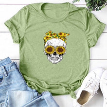 Load image into Gallery viewer, Skull Bandana T-Shirt - Green / S - MallJumbo.com