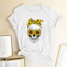 Load image into Gallery viewer, Skull Bandana T-Shirt - White / S - MallJumbo.com