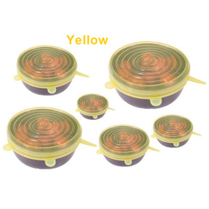 Amazing Flexi Lids - Yellow / 1 Set - MallJumbo.com