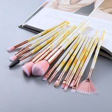 Load image into Gallery viewer, Attractz™ - 15 Piece Marble Brush Set - Yellow Marble - MallJumbo.com