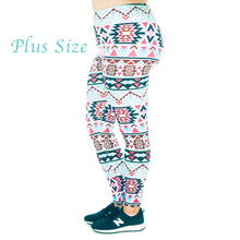 Load image into Gallery viewer, Kireina™ Leggings - Plus Size / Aztec #1 - MallJumbo.com