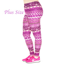 Load image into Gallery viewer, Kireina™ Leggings - Plus Size / Aztec #2 - MallJumbo.com