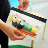 1pcs Mr. Beard Bag Transparent Pencil Case Matte Bag Creative Cute Pencil Boy School Supplies