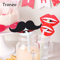 10pcs Funny Party Decoration Photo Booth Beard Lip Lollipop Straw Decor Birthday Party Kids Photo Props For Wedding