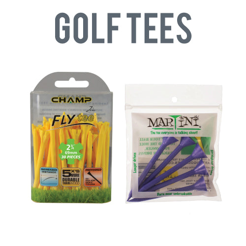 Golf Tees - Champ Fly 100, Martini Tees