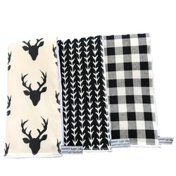 1db05fdb430  Black and White Burp Cloths Set (Pack of 3)
