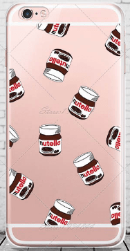 cell phone case, nutella, cute