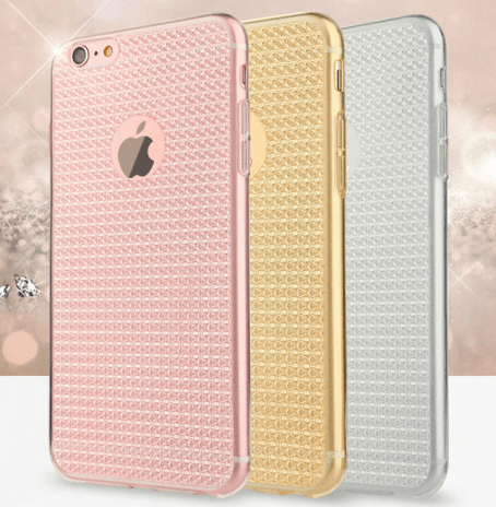 cell phone case, iPhone, diamond pattern
