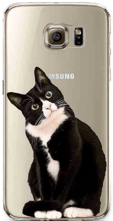 cell phone case, Samsung, cat