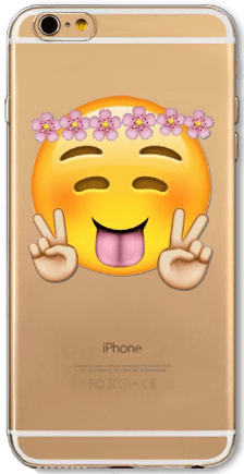 cell phone case, iPhone, emoji, peace