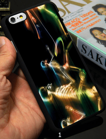 cell phone case, iPhone, skull, fire, fiery