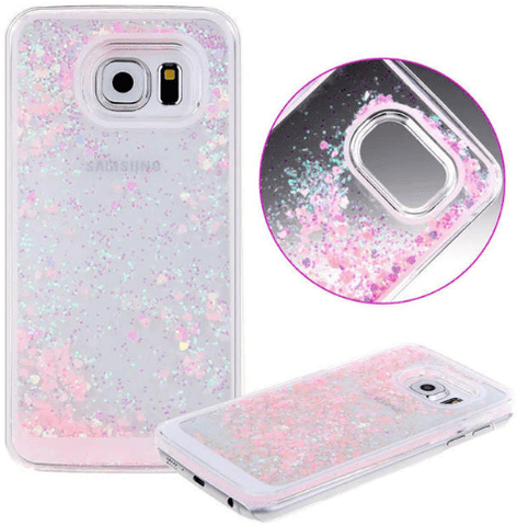 cell phone case, Samsung, liquid, glitter