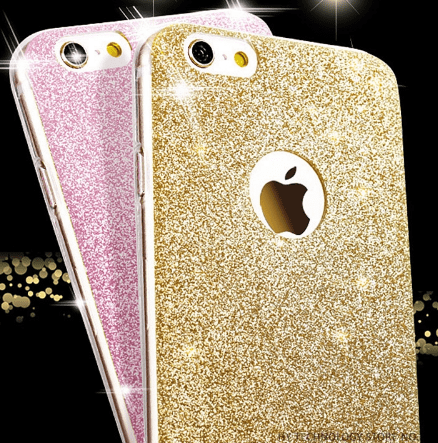 cell phone case, iPhone, glitter
