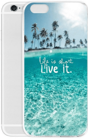 cell phone case, beach, ocean, palm trees, iPhone