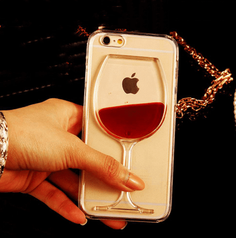 cell phone case, wine, liquid, iPhone