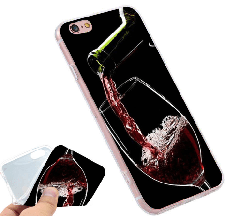 iPhone case, cell phone case, wine