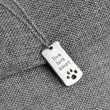 Live Love Adopt Pendant Necklace