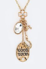 Good Luck Mix Charms Necklace and Earring Set