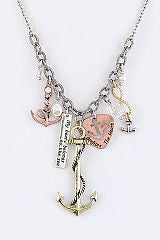 Sailor Charms Necklace and Earring Set