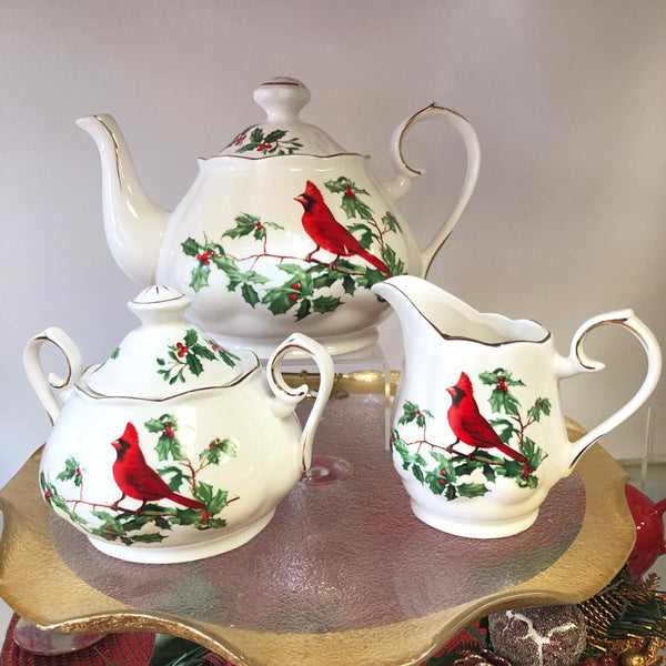 Cardinal Tea Pot Set