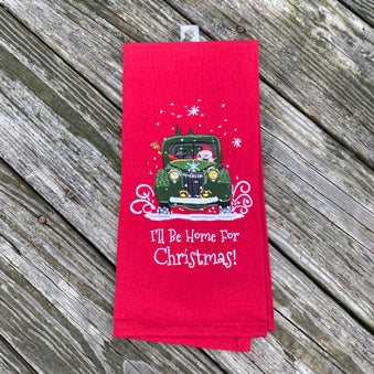 I'll be Home for Christmas Towel