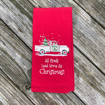 All Roads Lead Home at Christmas Towel
