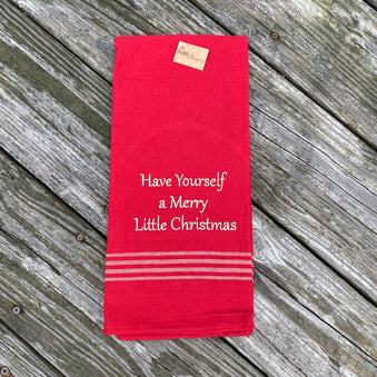 Have Yourself a Merry Little Christmas Dish Towel