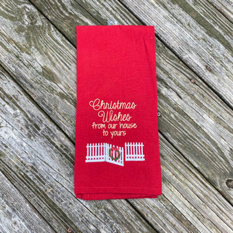 Christmas Wishes Dish Towel