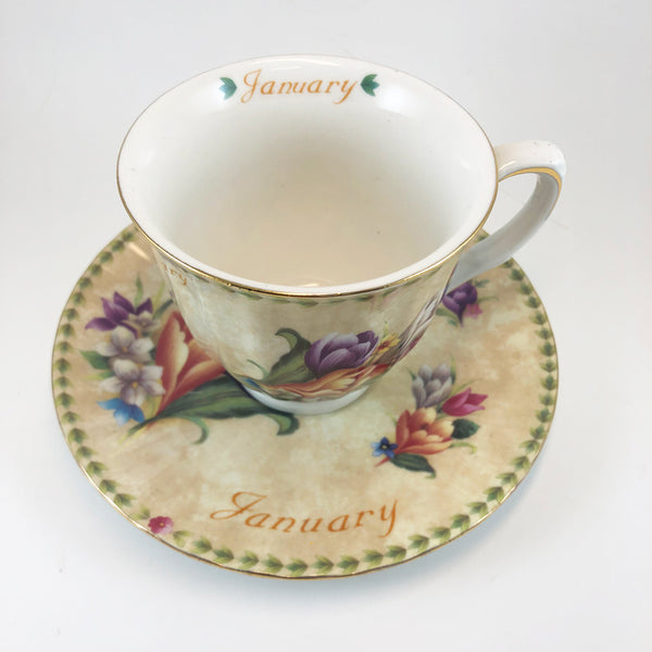 Monthly Floral Cup & Saucer Set