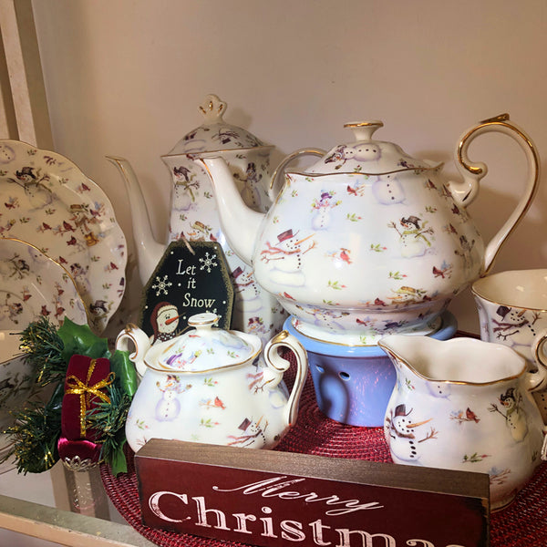 Snowman Tea Set (Sold by piece)