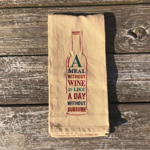 A Meal Without Wine Towel