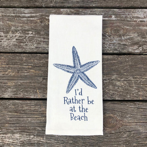 Rather be at the Beach Dish Towel