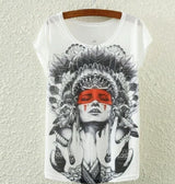 Indian Lady Punk Pinup Tattoo Gypsy Boho Goth Shirt Chief Steady Bunny Club Emo