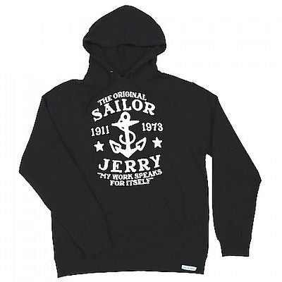 Sailor Jerry My Work Speaks Hoodie Tattoo Punk Rockabilly Flash Truth Mens