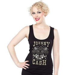 Sourpuss Johnny Cash Guns To Town Shirt Punk Pinup Rockabilly Tank Country Retro