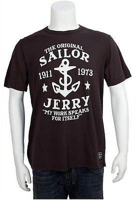 Sailor Jerry My Work Speaks Tee Shirt Tattoo Punk Rockabilly Flash Mens