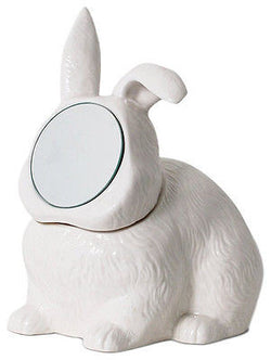 Rabbit Mirror Jewelry Box Container Vanity Urban Punk Kitsch Retro Taxidermy Emo