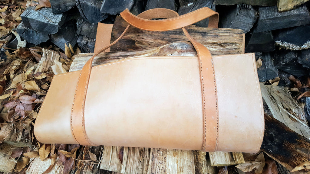 Hand Stitched Firewood Carrier