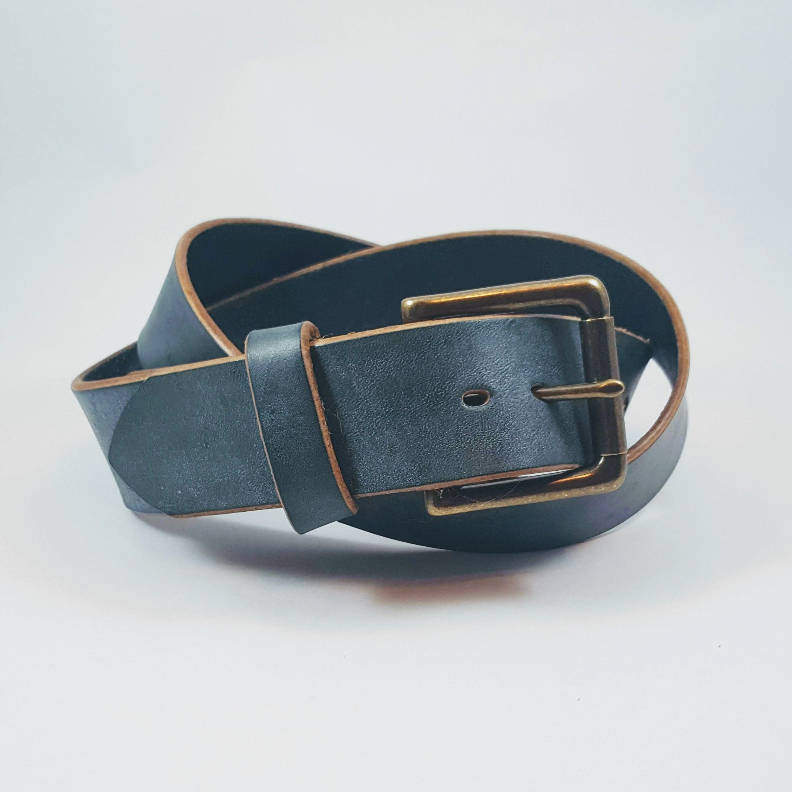 Indigo Dipped Belt with Roller Buckle