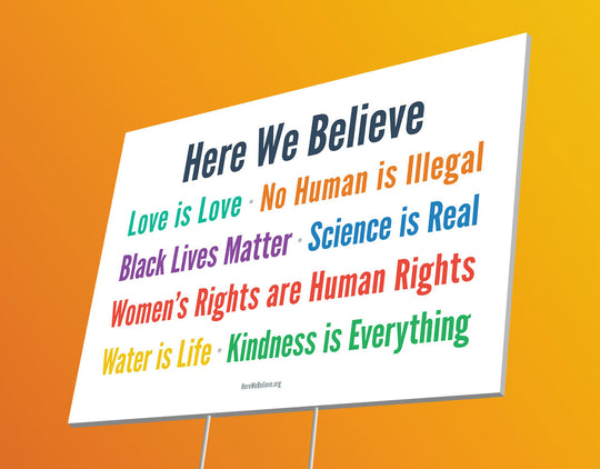 Here We Believe Sign (1-pack)