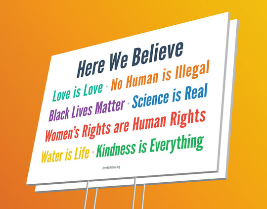 Here We Believe Sign (2-pack)