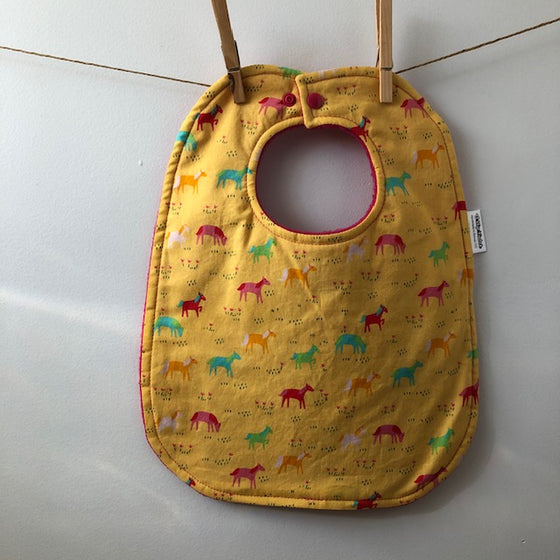 Yellow Horse Baby Bib