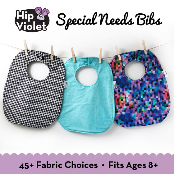 Special Needs Bib - 45+ Fabric Choices