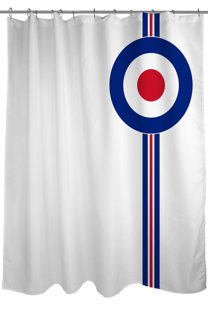Mod Fashion Revival Shower Curtain, Fabric, size 71 x 74, White on ...