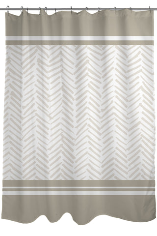 Sale Geometric Patterns Printed Shower Curtain Fabric Size 71 X 74 Tan Light