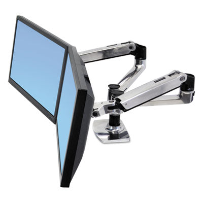 Ergotron - LX Dual Side-by-Side Arm - myergodesk