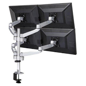 Mount-It! Articulating Quad Monitor Desk Mount - myergodesk