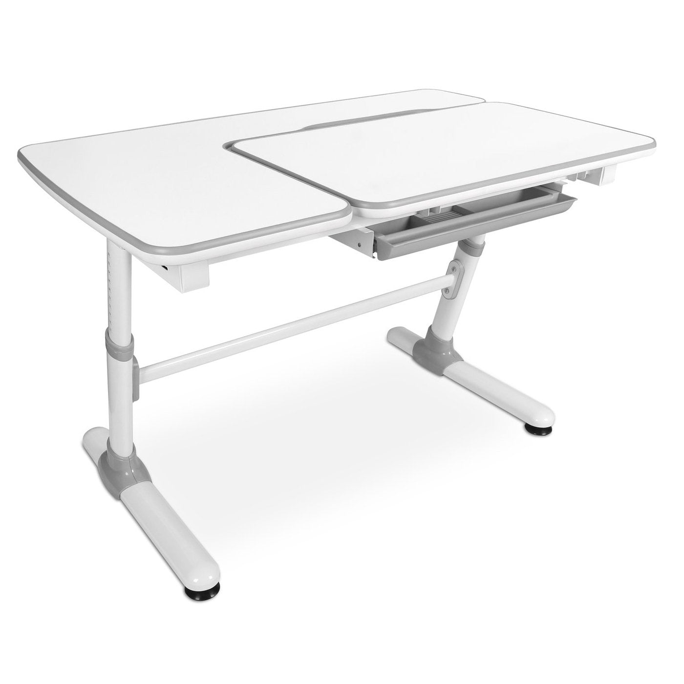 Mount-It! - Children's Desk w/ Tilting Desktop & Drawer - White - myergodesk
